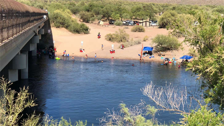 A man went under water while trying to get a tube that was floating away, MCSO said. (Source: Maricopa County Sheriff's Office)