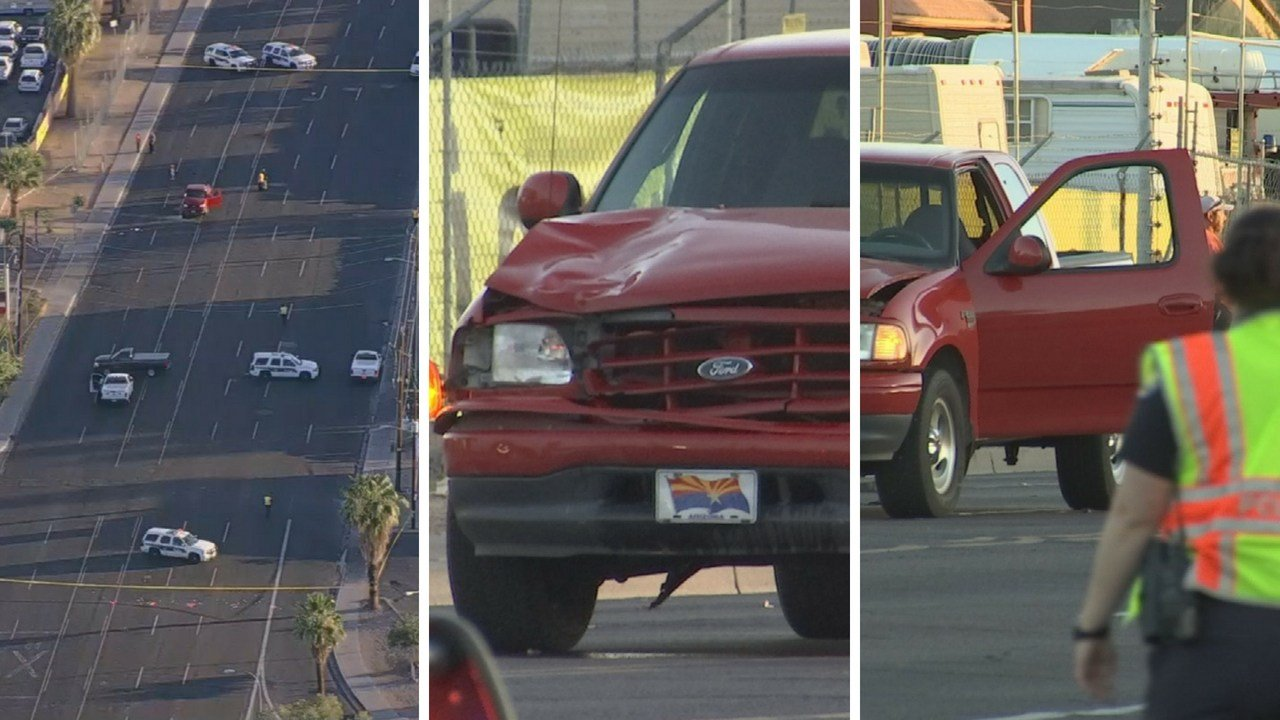 A man died after he was hit by an SUV Monday along 35th Ave. (Source: 3TV/CBS 5 News)