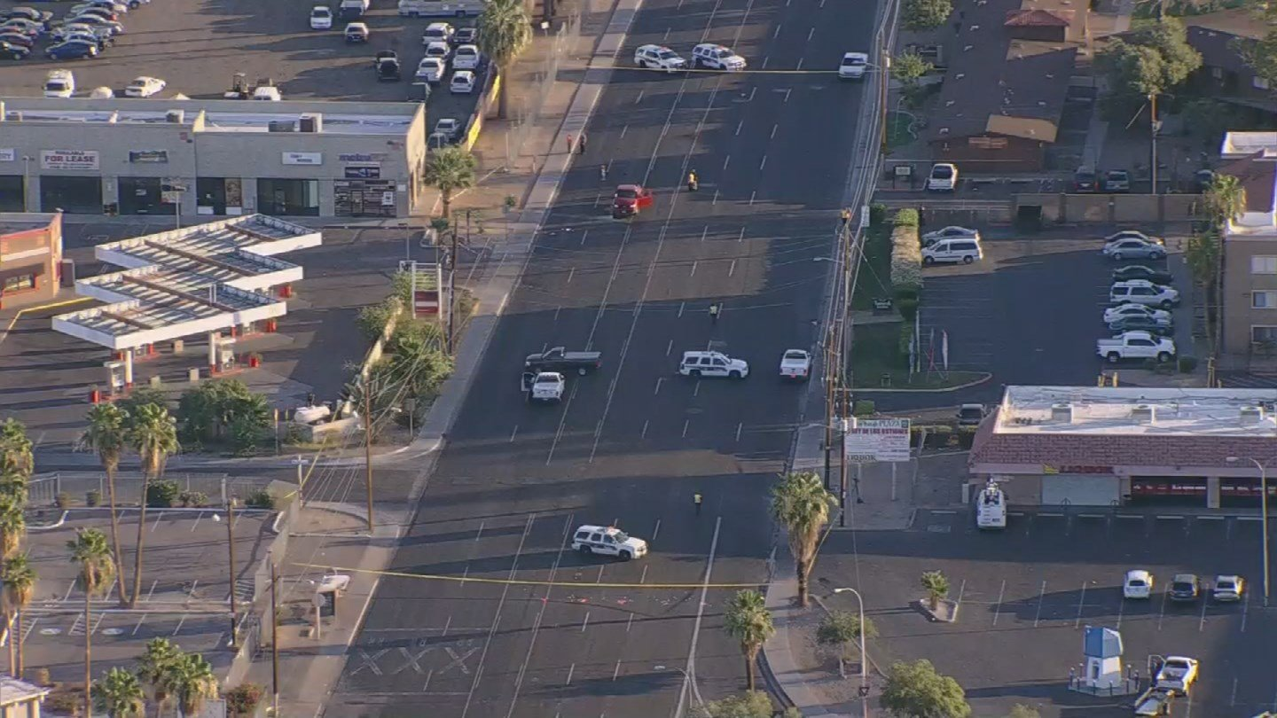 35th Ave. remained closed north of Indian School Rd. for the investigation. (Source: 3TV/CBS 5 News)