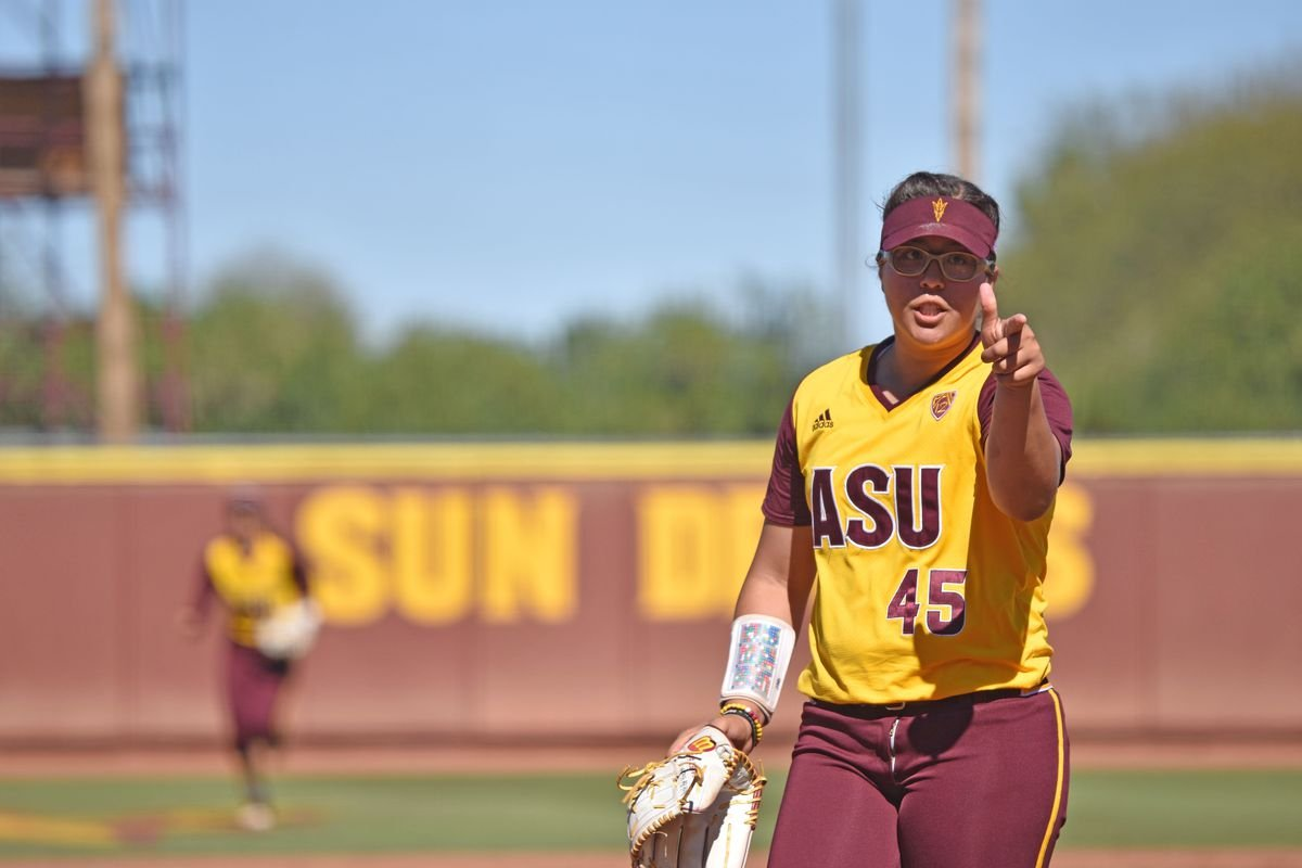 "ASU Softball: Giselle ""G"" Juarez (Source: Brady Vernon/House of Sparky)"