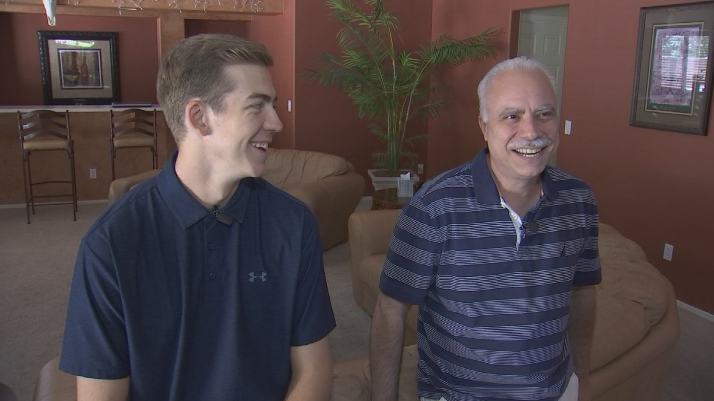 Matt's father, Anthony, couldn't be prouder of his son. (Source: 3TV/CBS 5 News)