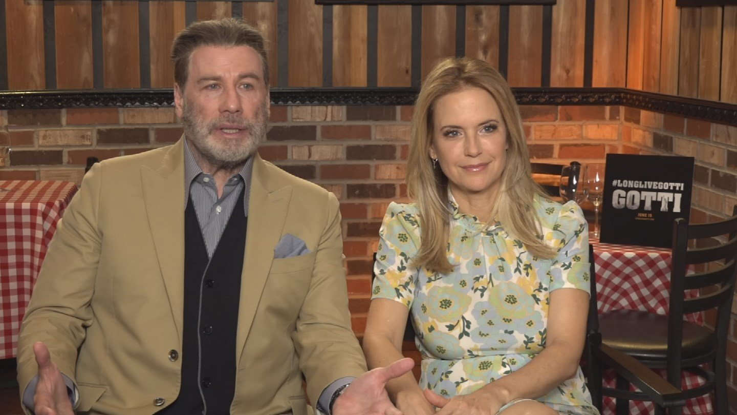 Legendary actors John Travolta and Kelly Preston were in town to talk about their new movie 'Gotti.' (Source: 3TV/CBS 5)