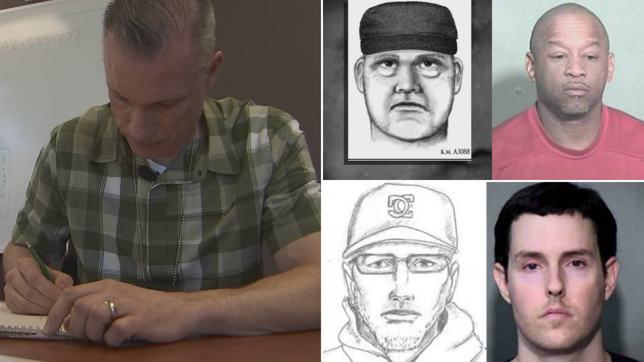 Goodyear police forensic sketch artist James Weege talks about how sketches are made based on witness statements. (Source: 3TV/CBS 5)
