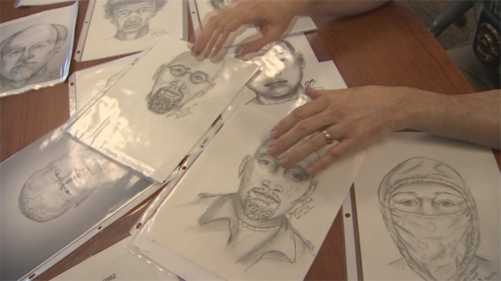 Weege said it takes anywhere from four to six hours to create a quality sketch. (Source: 3TV/CBS 5)