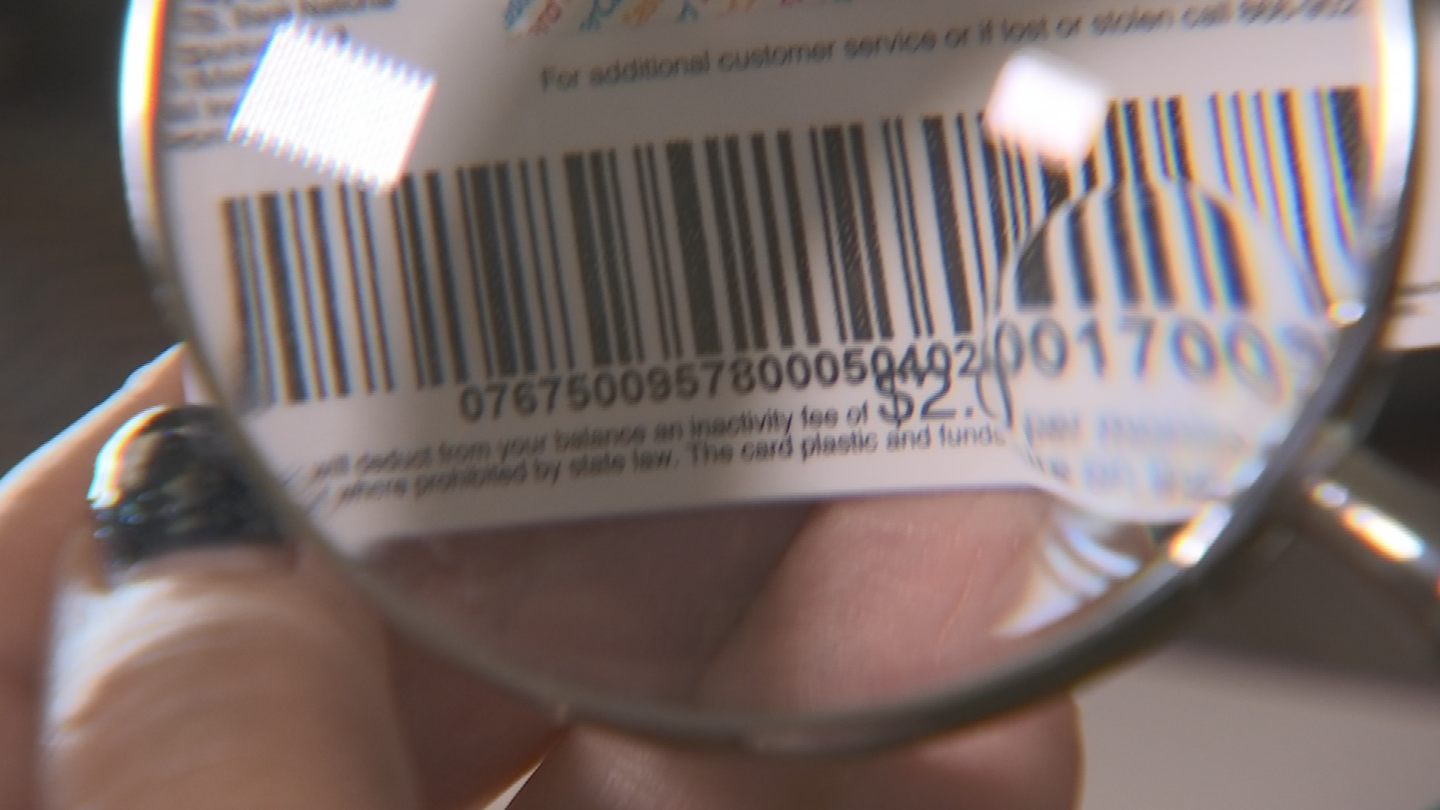 Krc eventually found that out when she got a magnifying glass to read the fine print on the back of the gift card. (Source: 3TV/CBS 5)