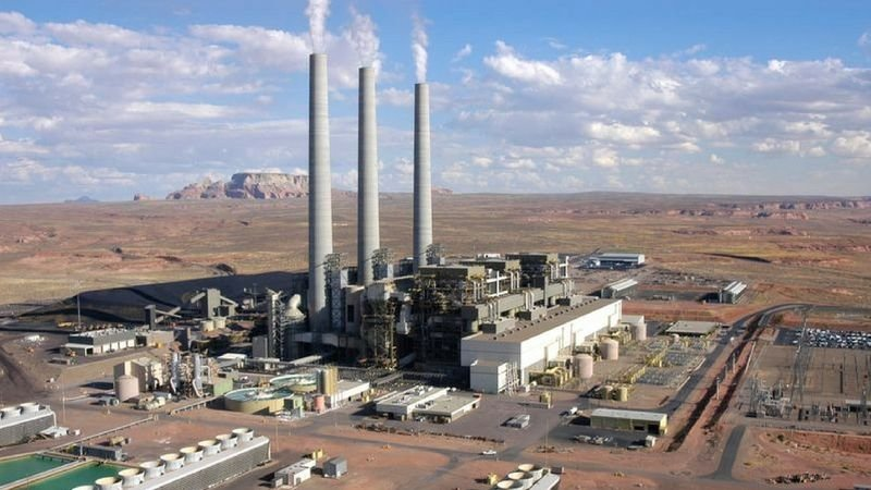 The coal-fired Navajo Generating Station in northeast Arizona provides almost 1,000 jobs between the plant and the mine that supplies it, but the plant's operators have said they plan to shut it down after 2019. (Source: Amber Brown/Courtesy SRP)
