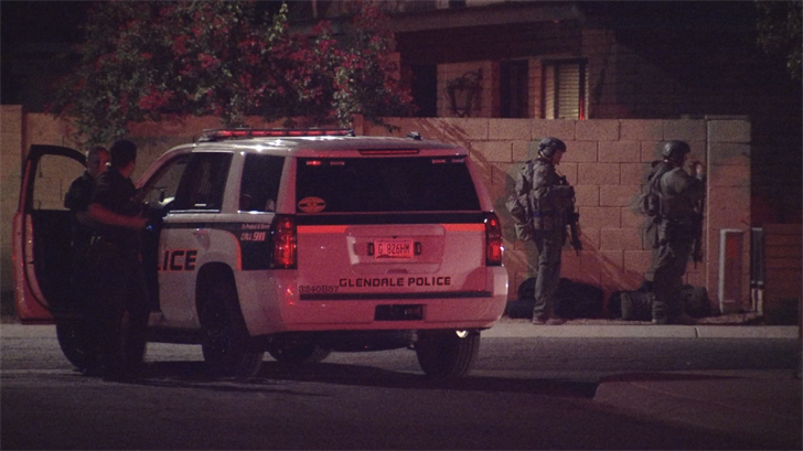 Glendale police officers responded to a home near 51st and Olive avenues regarding an investigation into an assault that took place on May 17. (Source: 3TV/CBS 5)