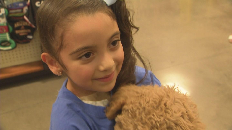 Gigi, 7, has a new best friend thanks to Make-a-Wish Arizona (Source: 3TV/CBS 5)