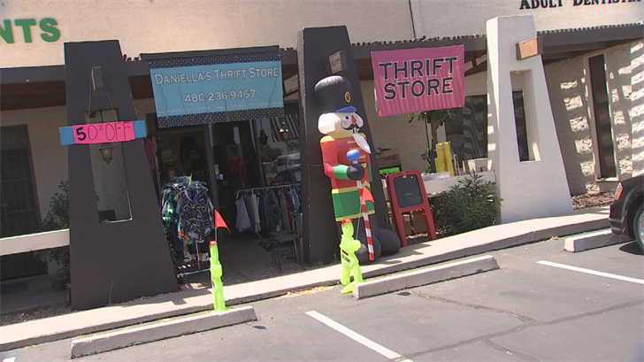 The nonprofit shop teams up with a local shelter, the Community Alliance Against Family Abuse, to provide clothing and other items free of charge, to women starting their lives over. (Source: CBS 5)
