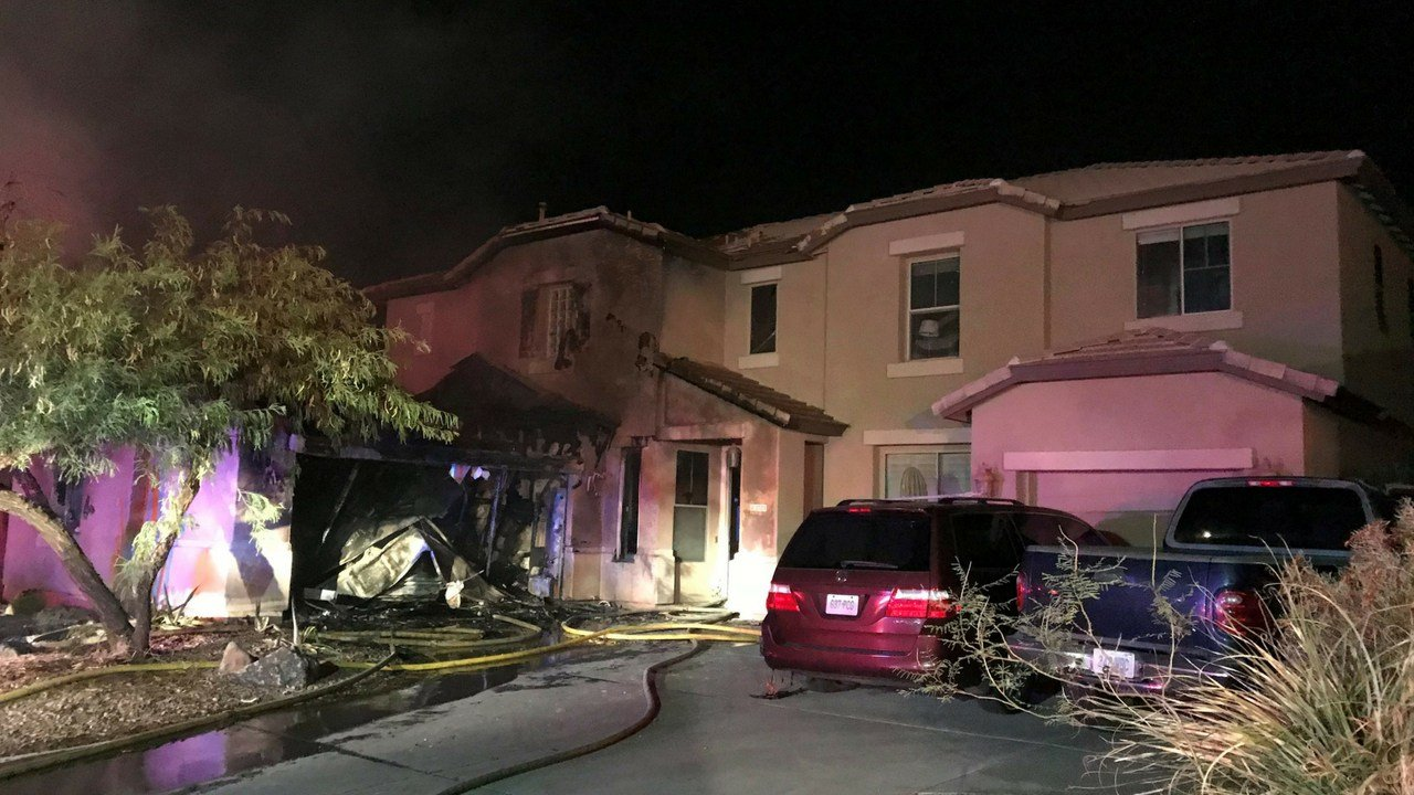 According to Phoenix fire, four people were home at the time and were able to escape the house after seeing the flames from a window. (Source: Phoenix Fire Department)