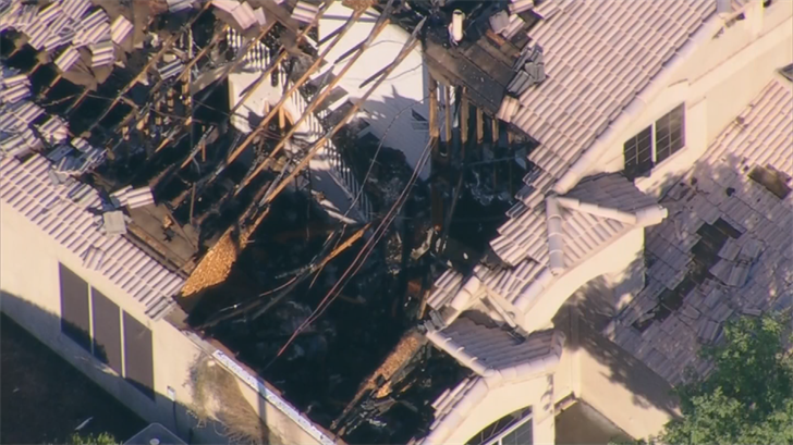 A family of 7 is alive after a massive fire at a home in Cave Creek late Thursday night. (Source: 3TV/CBS 5)A family of seven and four dogs are lucky to be alive after a massive fire at a home in Cave Creek late Thursday night. (Source: 3TV/CBS 5)