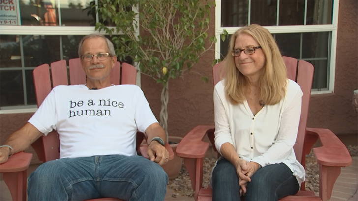 Jeff Beaudoin (left) and Barb Beaudoin, Nikki Beaudoin's parents who have set up a nursing scholarship at ASU to honor their daughter. (Source: 3TV/CBS 5)