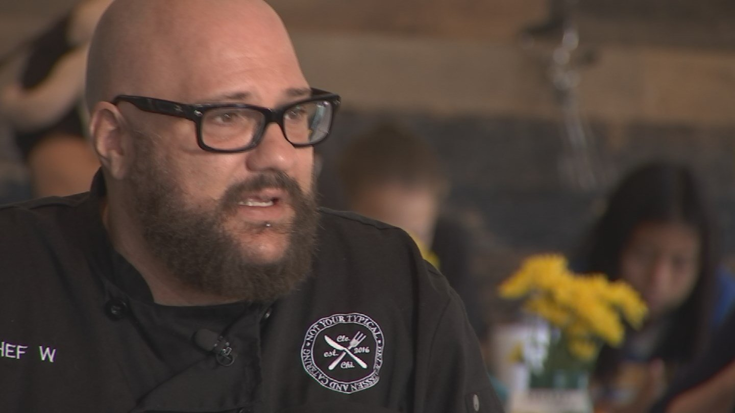 Chef W Rieth, owner of Not Your Typical Deli. (Source: 3TV/CBS 5 News)