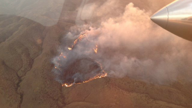 Authorities initially believed the fire had grown to over 12 square miles but now say it's actually about 6 square miles. (Source: U.S. Forest Service)