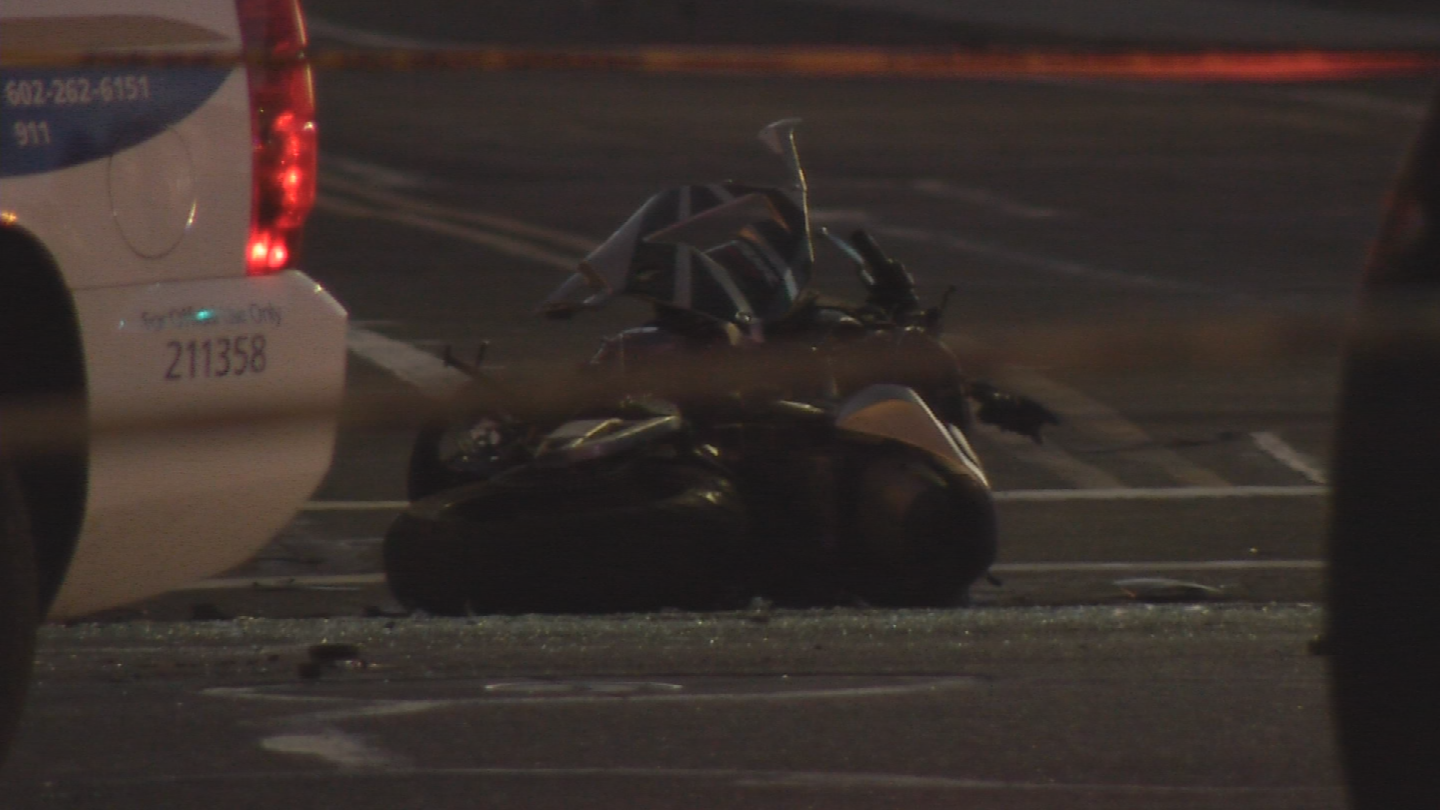 Police said the driver made a left turn and crashed with the motorcyclist. (Source: 3TV/CBS 5)