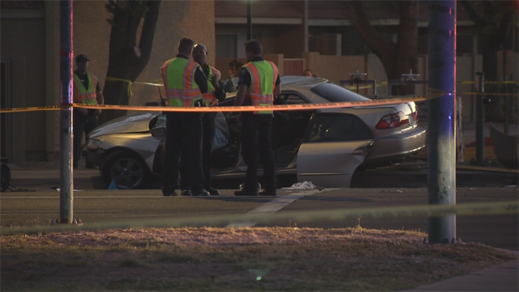 The driver also hit a second vehicle. (Source: 3TV/CBS 5)