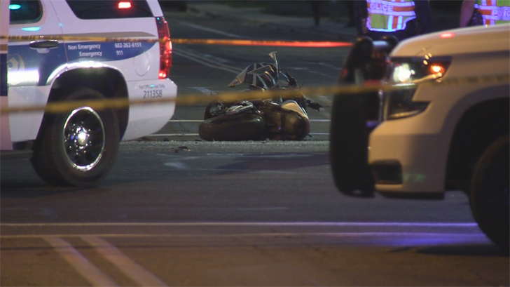 The man died at the scene. (Source: 3TV/CBS 5)