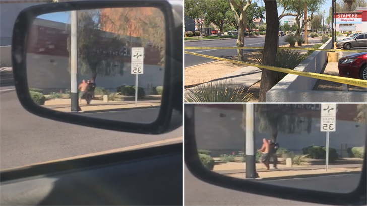 A witness recorded video of the officer-involved shooting in central Phoenix. (Source: 3TV/CBS 5)