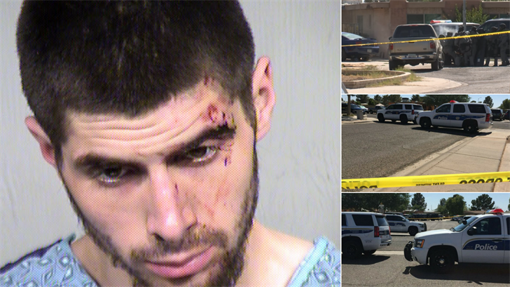 Two shoplifting suspects are now in police custody following an hours-long standoff with police at a home near 19th Avenue and Cactus Road Sunday. (Source: 3TV/CBS 5/Maricopa County Sheriff's Office)
