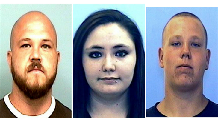 Troy Mobley, 30 (left), Skyler Beveridge, 21 (middle), Zachary Bowling, 22 (right) suspects YCSO says are connected to the shooting of a Prescott Valley man. (Source: Yavapai County Sheriff's Office)
