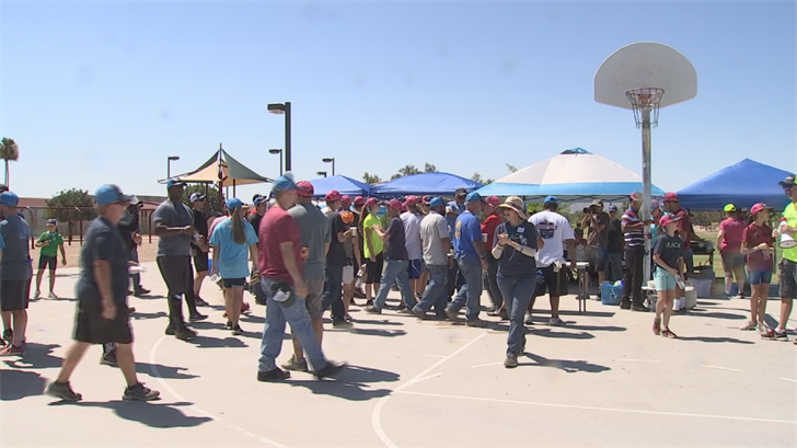Over 200 volunteers gathered. (Source: 3TV/CBS5)