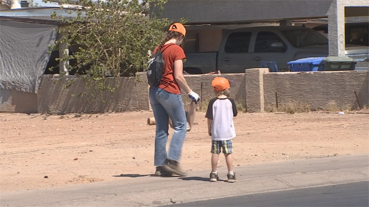 Volunteers ranged from all ages. (Source: 3TV/CBS5)