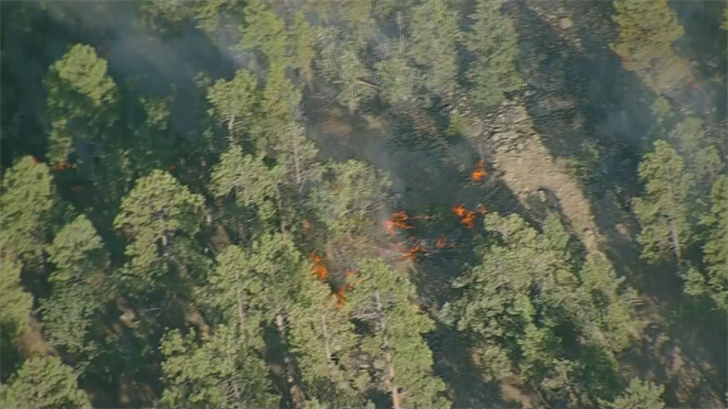 The Tank Fire has burned through 125 acres in a matter of hours, according to the Arizona Department of Forestry and Fire Management. (Source: 3TV/CBS 5)