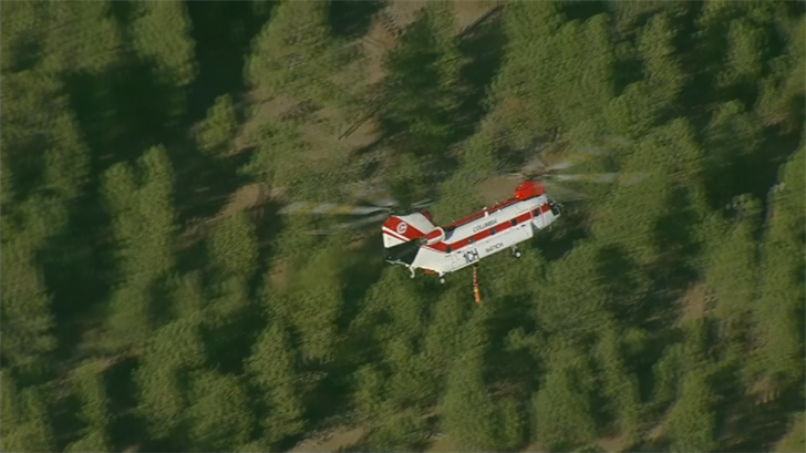 Fire crews are battling the flames from the air and on the ground. (Source: 3TV/CBS 5)
