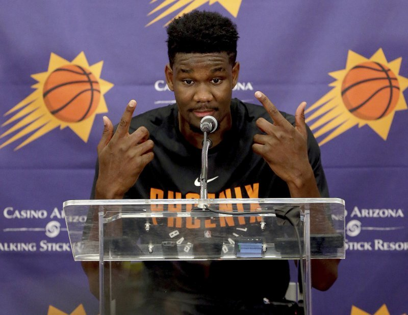 In the end, the Suns will likely keep their No. 1 pick and they'll likely select Ayton. (Source: The Associated Press)