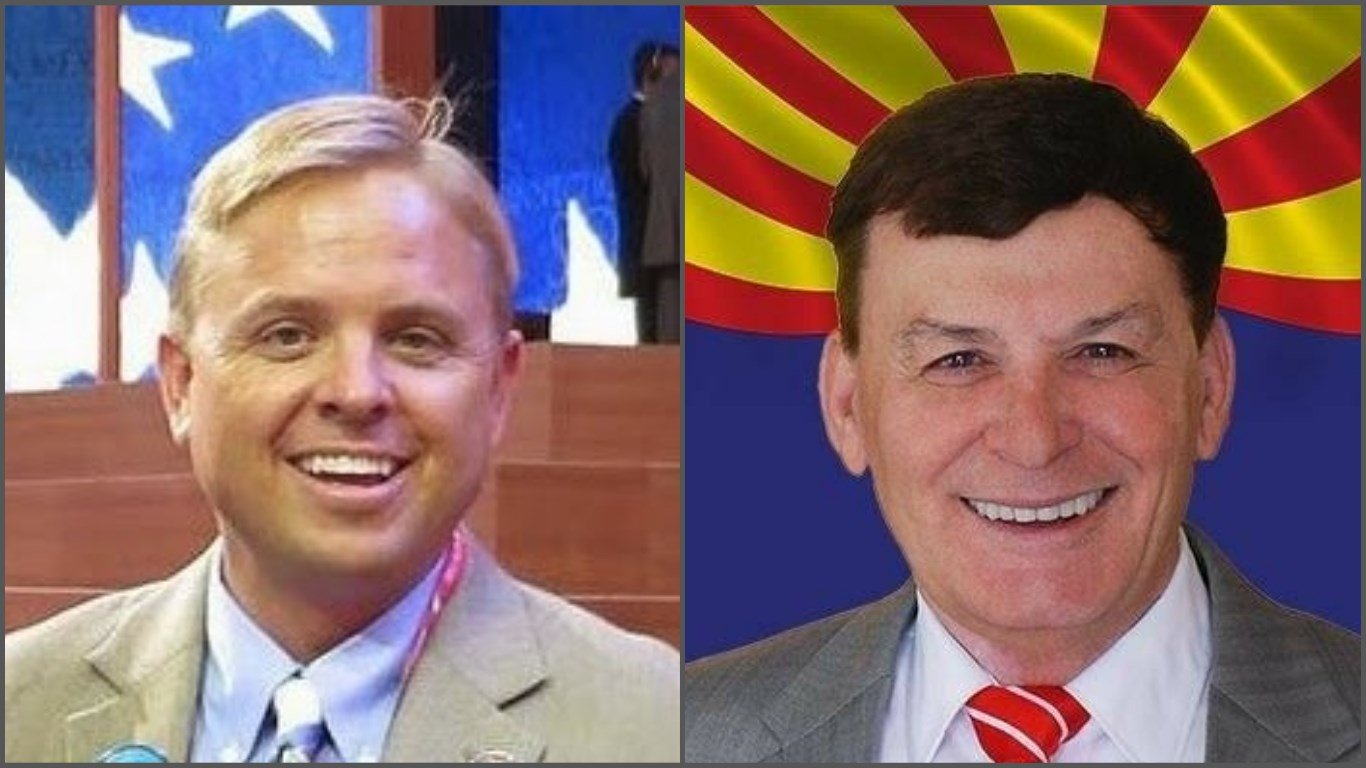 Jonathan Lines, Chairman of AZ Republican Party (left) and Rep. David Stringer (Sources: AZ.gop and Facebook)