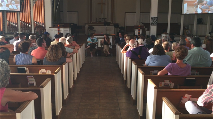 About 150 people showed up for an immigration town hall meeting at First Congregational UCC Church in Phoenix Thursday. (Source: 3TV/CBS 5)