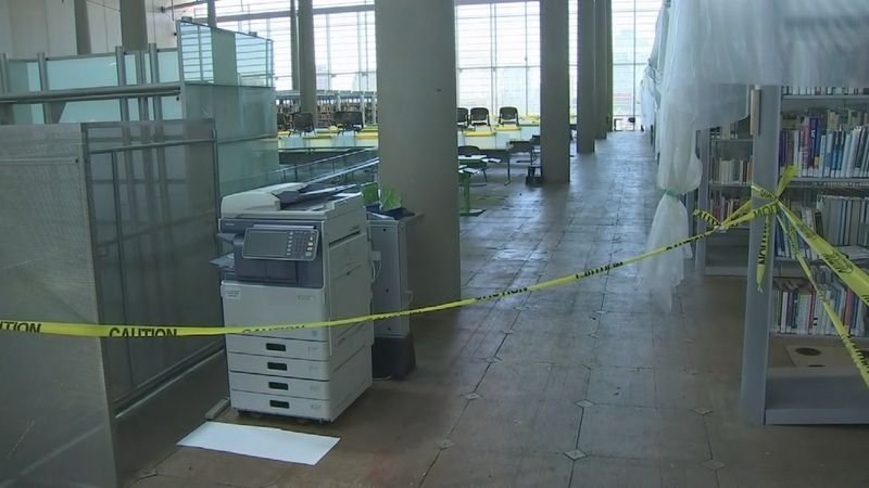 A monsoon storm confused the facility's smoke-detection system, filling the fire-sprinkler system with water. (Source: 3TV/CBS 5)