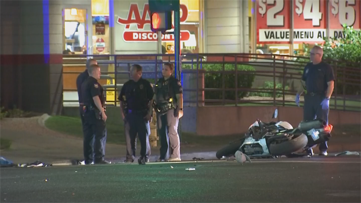 Two motorcyclists are in the hospital after a collision in Phoenix early Friday morning. (Source: 3TV/CBS 5)