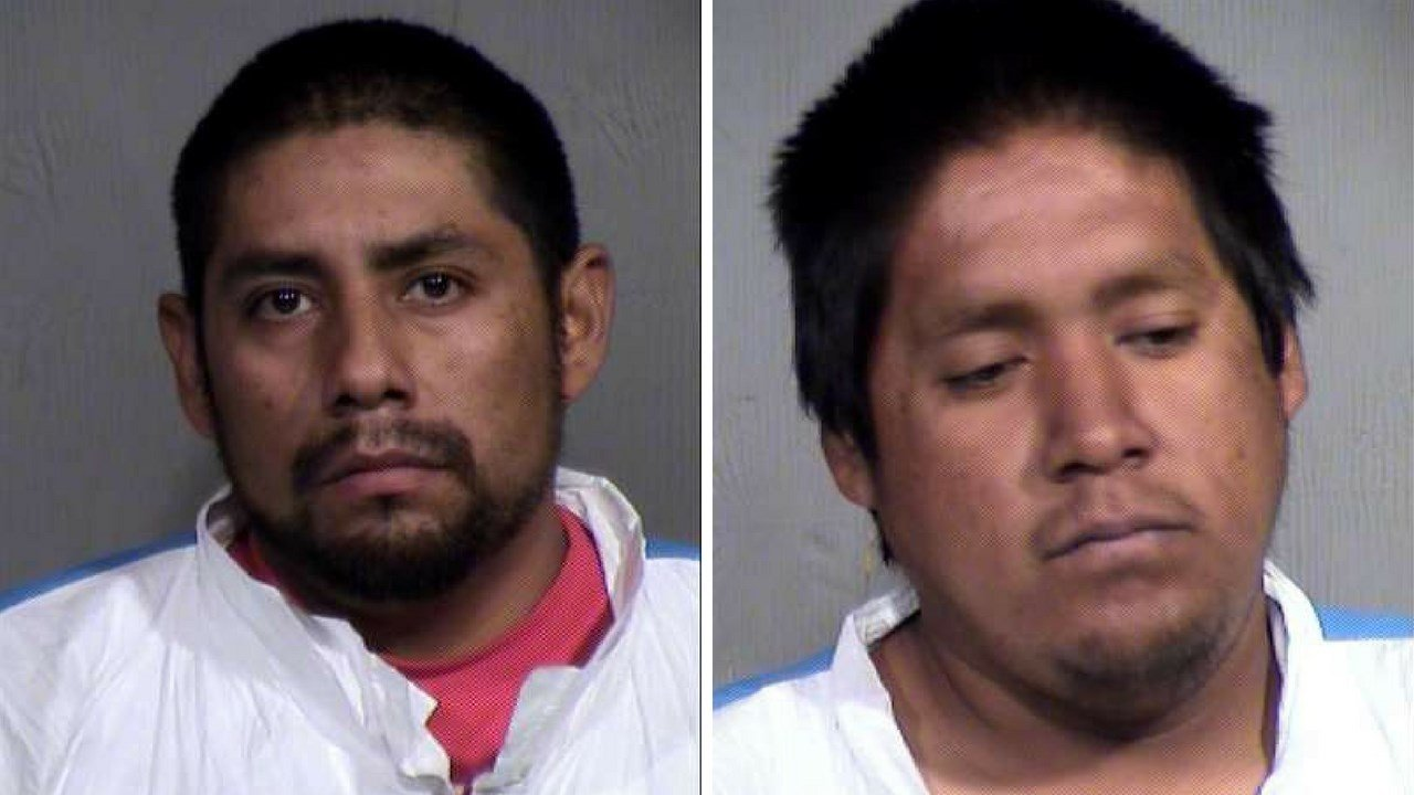MCSO mugshots of Aaron Pacheco, 32, (Left) and Isaac Antone, 28.(Right) (Source: MCSO)