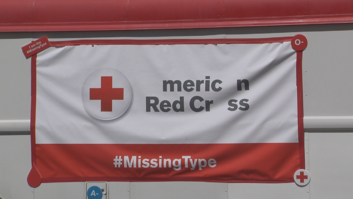 The American Red Cross on Monday kicked off its #MissingType campaign to raise awareness of the shortages of A, B and O blood types across the country. (Source: 3TV/CBS 5)