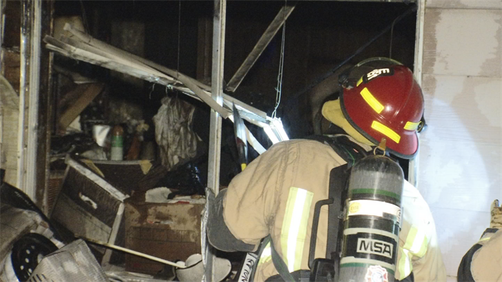 Fire officials said the homeowners will be displaced because of the fire. (Source: 3TV/CBS 5)
