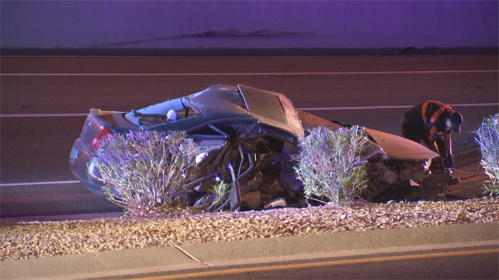 The wrong-way driver suffered minor injuries. (Source: 3TV/CBS 5)