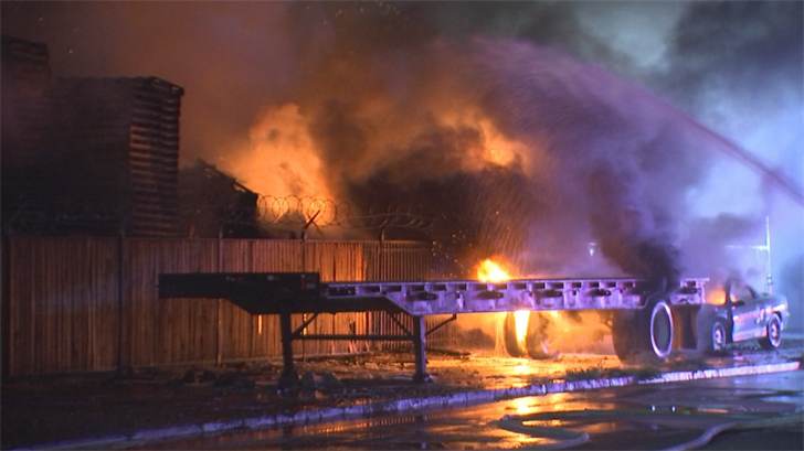 Firefighters arrived on scene near 31st and Grand avenues just before 1:30 a.m. and found a working fire. (Source: 3TV/CBS 5)