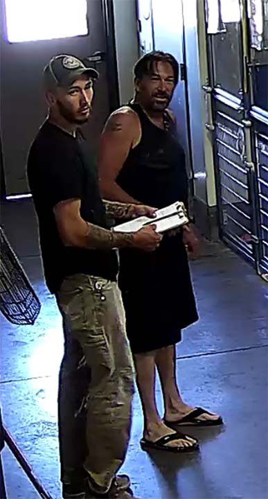 AAWL says these two men stole a puppy from the shelter on Sunday, June 17, 2018. (Source: Arizona Animal Welfare League)
