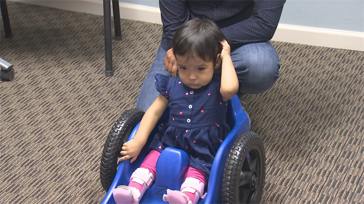 On Monday, the Spina Bifida Association of Arizona set the Canters up with another deserving little girl named Jacqueline. (Source: 3TV/CBS 5)