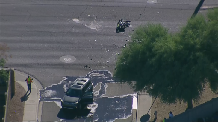 A motorcycle was killed in a crash on Monday. (Source: 3TV/CBS 5)