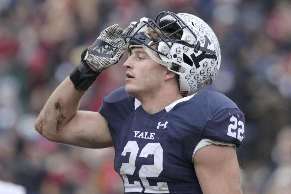Matt Oplinger, standout Yale football player. (Source: Associated Press)