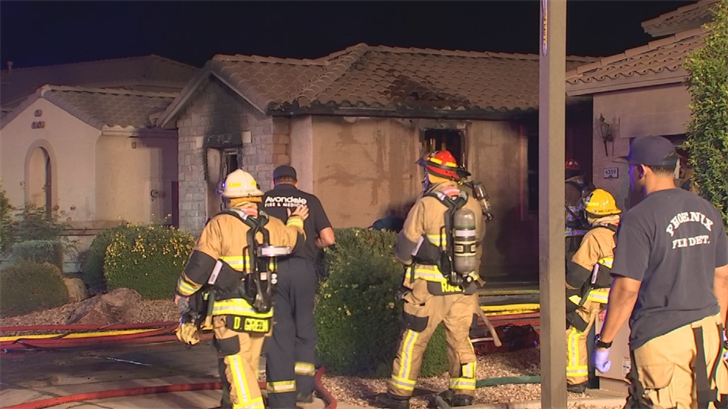 Fire crews were dispatched to the house fire near Indian School and Litchfield roads in Goodyear. (Source: 3TV/CBS 5)