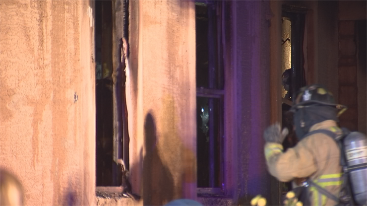 Nearly 40 firefighters eventually extinguished the fire. (Source: 3TV/CBS 5)