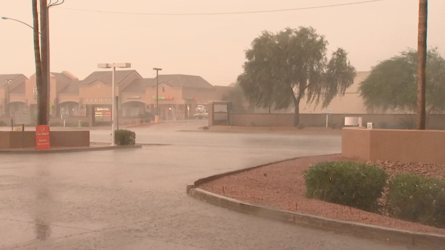 On average, the monsoon in Phoenix produces just under 3 inches of rain, which is about a third of the total rain for an entire year. (Source: 3TV/CBS 5)