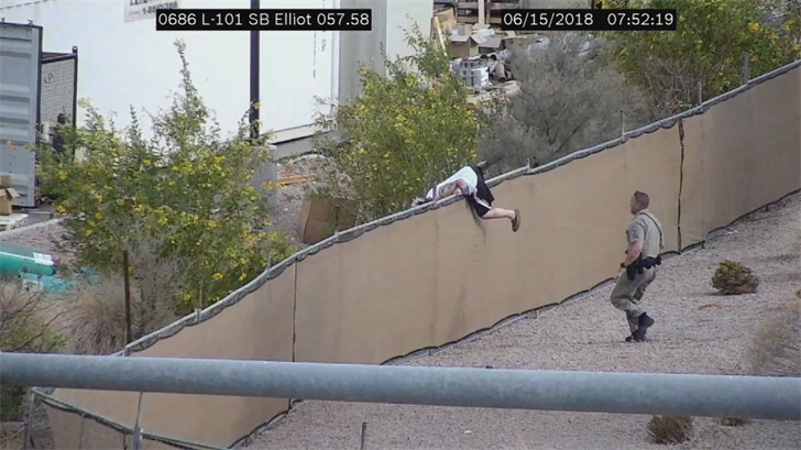 Vierra hopped a fence to escape trooper's custody. (Source: Arizona Department of Transportation)