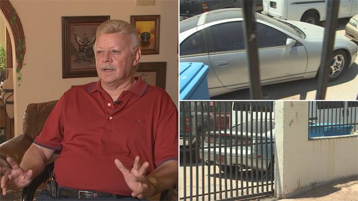 "Dale Shephard says a ""mobile mechanic"" has his Nissan car and won't give it back. (Source: 3TV)"