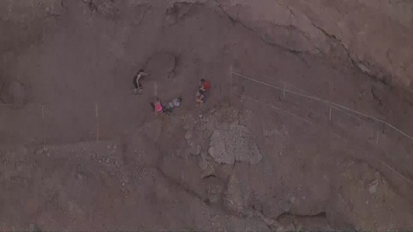 The mountain rescue team removed the man from Echo Canyon with an open ankle fracture. (Source: 3TV/CBS 5)