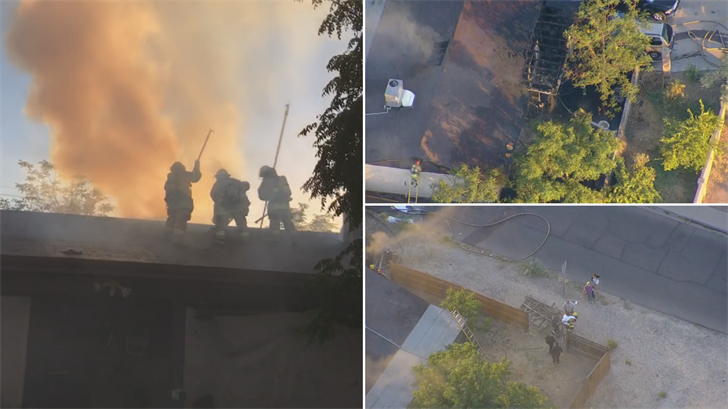 A fire broke out at a house in south Phoenix but five pets are missing. (Source: 3TV/CBS 5)