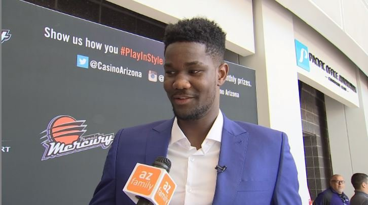 #1 pick Deandre Ayton speaks with AZ Family after being introduced by the Phoenix Suns. (Source: 3TV/CBS 5)